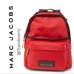 NWT Marc Jacobs Red Large Nylon School Backpack